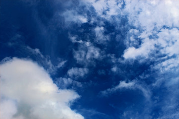Beautiful view blue sky with white clouds