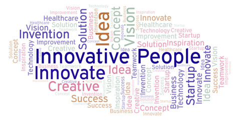Innovative People word cloud, made with text only.