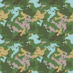 Creative camo seamless pattern