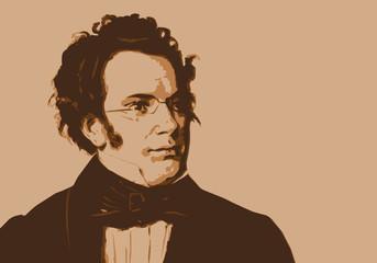 Schubert, musicien, portrait, personnage, musique, célèbre, classique, compositeur, visage
