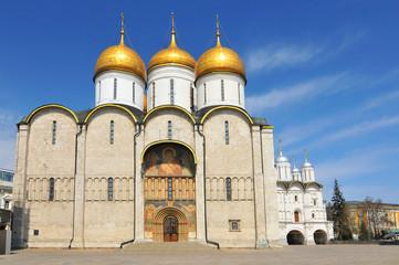 The Cathedral of the Archangel (Arkhangelsky sobor), Russian Orthodox church dedicated to the Archangel Michael in Moscow, Russia.