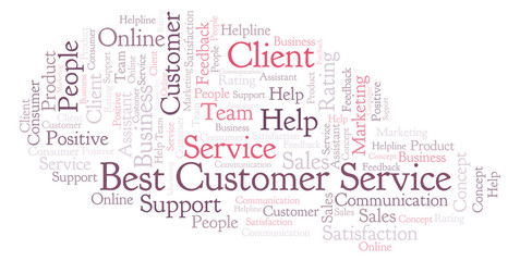 Best Customer Service word cloud.