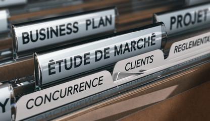 Etude de marché, analyse de la concurrence et de la clientèle lors du processus de création d'entreprise