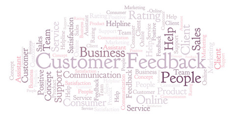 Customer Feedback word cloud.