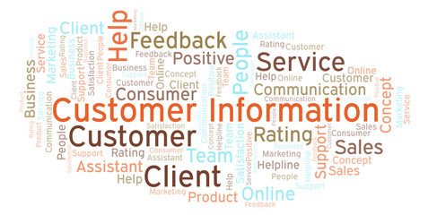 Customer Information word cloud.