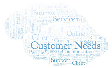 Customer Needs word cloud.