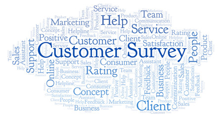 Customer Survey word cloud.