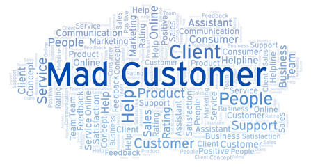 Mad Customer word cloud.