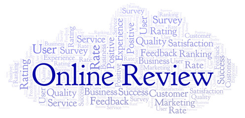 Online Review word cloud.