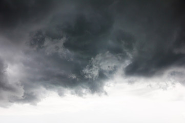 the storm clouds , dark clouds or rain clouds for background
