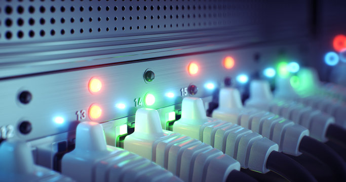 Data center cloud connection network router and switch