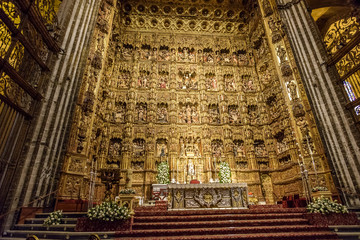 Printed kitchen splashbacks Monument altar of the cathedral of Seville, Andalucia. Spain
