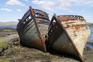 Old boat wreck in Scotland