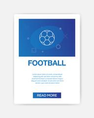 FOOTBALL ICON INFOGRAPHIC