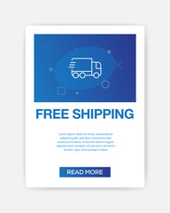 FREE SHIPPING ICON INFOGRAPHIC