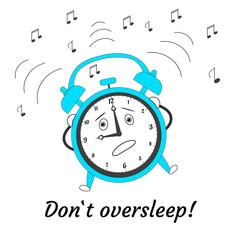 Cartoon jumping alarm clock.