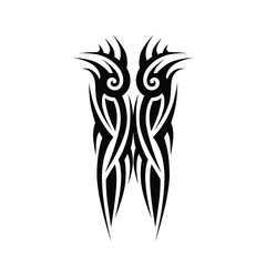 tattoo tribal art design vector,  abstract  element pattern vintage on white background