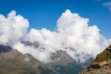 Cloudscape at Sallent Joch, Adamello Brenta National Park, South Tyrol, Italy