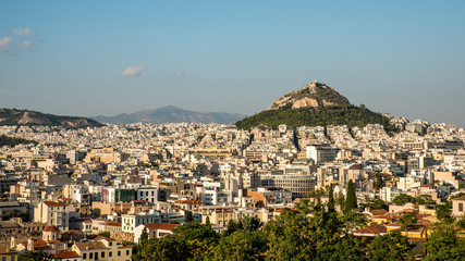 Lykavitos rising above modern Athens