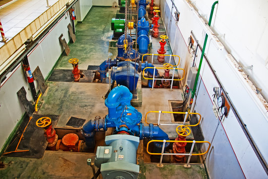 Water treatment pumping station