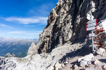 Idyllic view of Adamello Brenta National Park, Bocca di Tuckett, South Tyrol / Italy