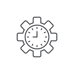Productivity and Efficiency. Productivity icon vector. Efficiency vector symbol. Time management sign. Capacity and production cycle icon
