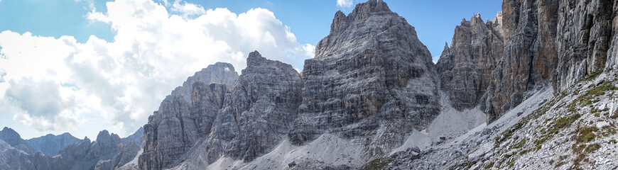 Panoramic view of Adamello Brenta National Park, South Tyrol / Italy
