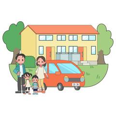 2世帯家族 住宅 車