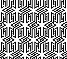 Vector seamless texture. Modern geometric background. Lattice with stars.