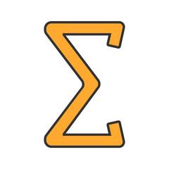 Summation color icon