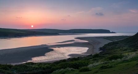 Dipping Sun, Camel Estuary, Cornwall
