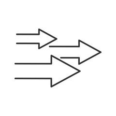 Speed arrows linear icon