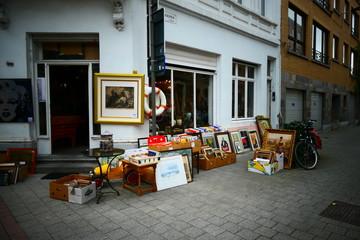 In the streets of the heart of Antwerp - Antwerpen. Belgie. - Belgium
