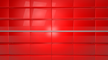 Wall Mural - red tile modern background copy space 3d render
