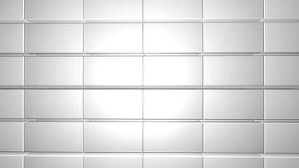 Wall Mural - white tile modern background copy space 3d render