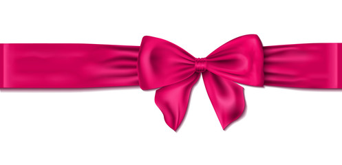 pink bow vector illustration