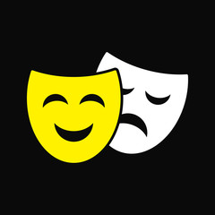 Theater symbol mask vector drawing