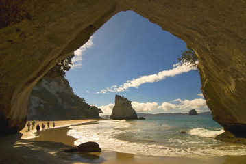 Photo sur Aluminium Cathedral Cove New Zealand, Coromandel Peninsula, Cathedral Cove.