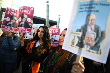 Demonstration during the visit of Turkish President Erdogan in Berlin