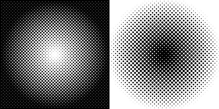 Halftone circles. Halftone dot pattern abstract vector background
