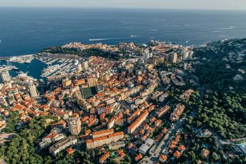 Monaco Monte-Carlo city riviera Drone summer photo