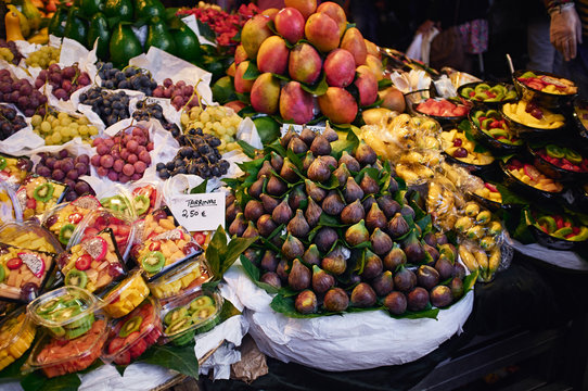 Exotic fruits at market