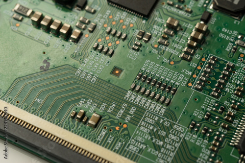 a complex pcb mounted board with surface mount electronic parts rh fotolia com