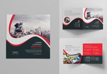 Square Bi-Fold Brochure Layout