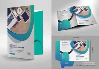 Gradient Presentation Folder Layout