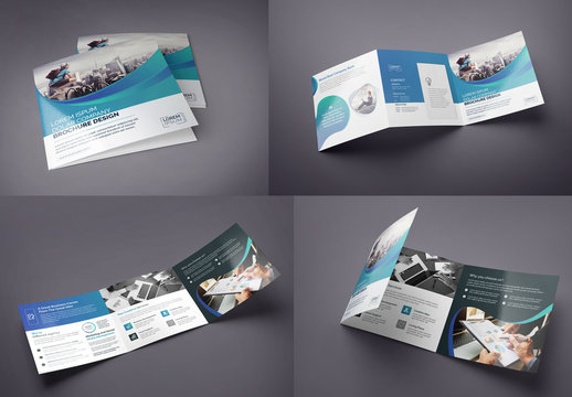 Square Tri-Fold Brochure Layout