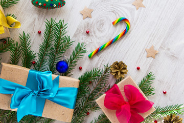 Christmas gifts in a festive atmosphere