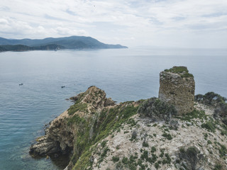 Torre Degli Appiani. Island in Punta Ala. Italy landscape