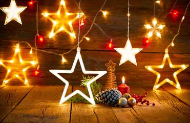 Christmas snowflake star vintage rustic