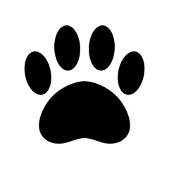 dog paw vector icon logo french bulldog footprint cartoon bear cat illustration clip art